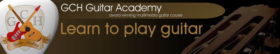 GCH Guitar Academy, free guitar lessons from the complete 2 year guitar course